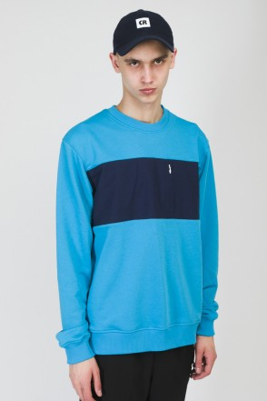 Block Summer Crew-neck Sky Blue/Ink Blue