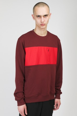 Block Summer Crew-neck Cherry/Light Red
