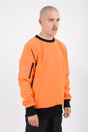 Firm 2 Windbreaker/Crew-neck Orange/Orange Hood