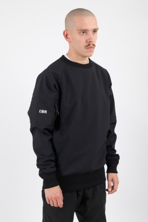 Firm 2 Windbreaker/Crew-neck Black/Orange Hood
