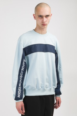 Crewneck Summer Crew-neck Light Gray Blue/Ink Blue