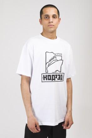 T+ Titanic Club Respect T-shirt White
