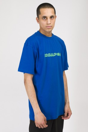 T+ Ptuch Magazine Respect T-shirt Cornflower Blue