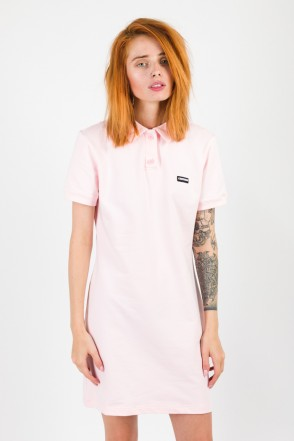 Adress Polo Dress Pale Pink