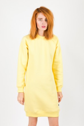 Clean Dress Crew-neck Yellow Pale