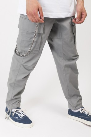 Cargo Wide Trousers Mouse Gray