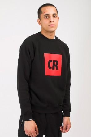 Firm Crew-neck CR Cube Logo Black