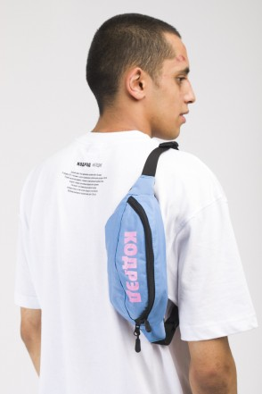Hip Bag Blue Taslan/Pink print КОДРЭД