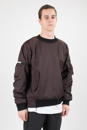 AMB COR Bomber/Crew-neck Brown
