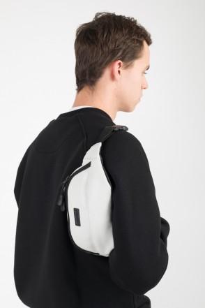 Сумка поясная Hip Bag Светло-Серый иск. Кожа