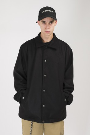 Coated Coach Jacket Black