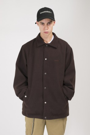 Coated Coach Jacket Dark Brown