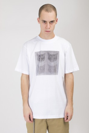 Regular Noise Quadro Cat T-shirt White