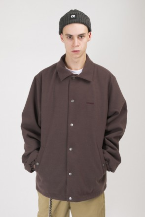 Coated Coach Jacket Gray/Brown