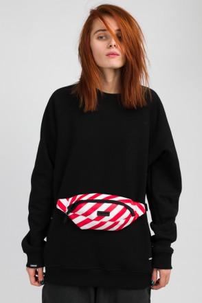 Hip Bag Red & white Art. Leather Stripes