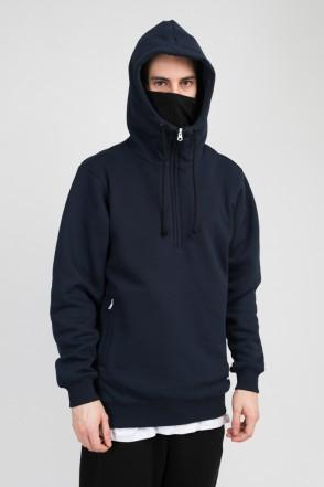 Mask Hoodie Navy Blue