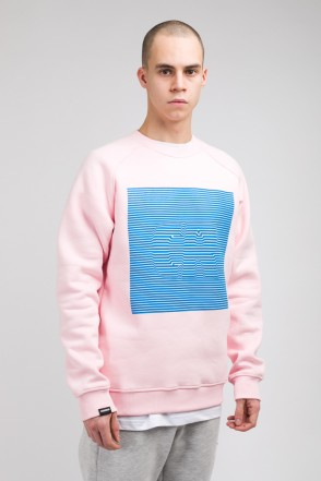 Firm CR Volume Lines Crew-neck Pale Pink
