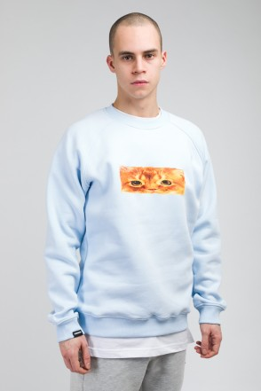 Firm Crew-neck Boxcat Light Blue