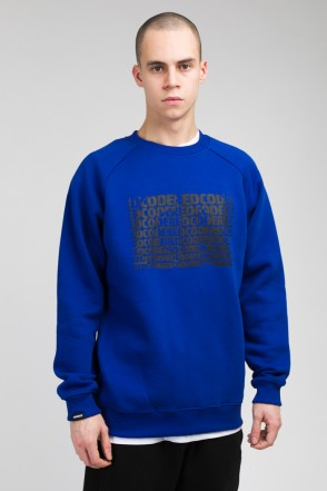 Firm Cropped Crew-neck Blue