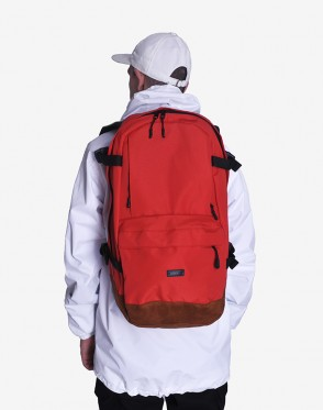 Action Backpack Red/Brown Suede
