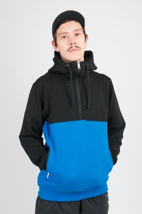 Mask Combo Summer Hoodie Black/Bright Blue