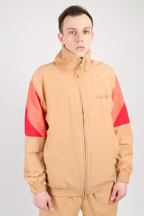Olymp Track Jacket Sandy Brown/Salmon/Red