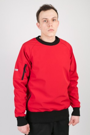 Firm 2 Windbreaker/Crew-neck Red/Black Hood