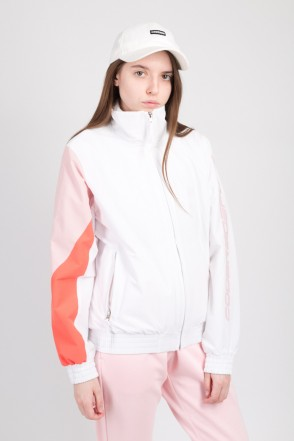 Olymp Lady Track Jacket White/Pale Pink/Salmon