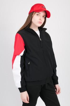 Olymp Lady Track Jacket Black/Red/White