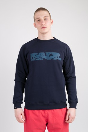 Firm CODERED x Trun Crew-neck Ink Blue