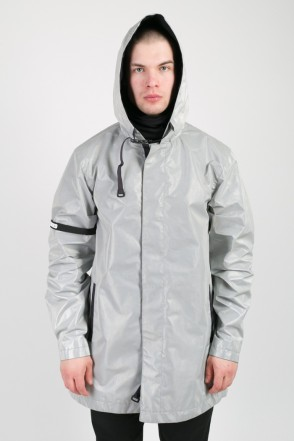 Upfront Raincoat Reflective Gray