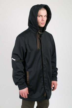 Upfront Raincoat Black Softshell