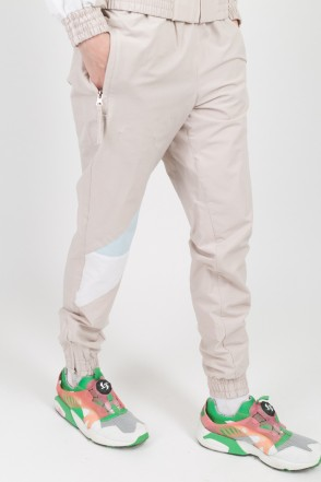 Jogger 92 Lady Pants Beige/Light Blue/White