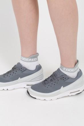 Носки Shortline Sock Белый/Светло-серая Полоса