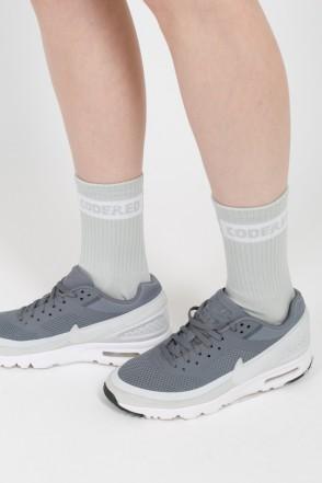 Boxlogo Socks Gray Melange/White Logo