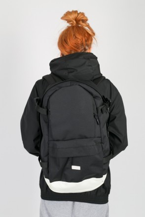Action Backpack Black/White Leather
