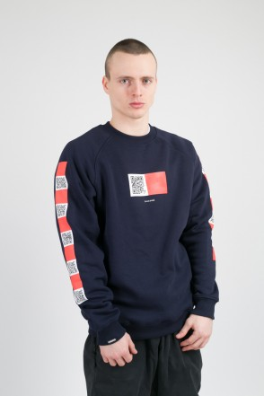 Firm CODERED x Letme Crew-neck Ink Blue