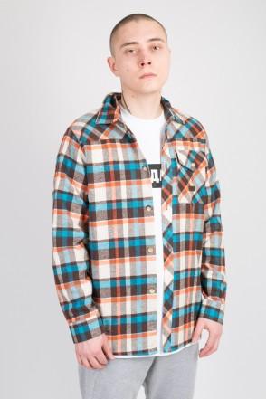 Рубашка Harbor Голубой/Оранжевый/Коричневый