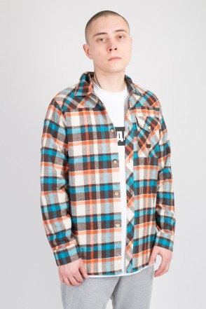 Harbor Shirt Blue/Orange/Brown