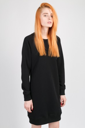 Clean Dress Summer Crew-neck Black