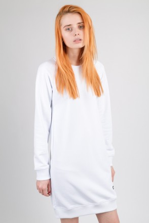 Clean Dress Summer Crew-neck White
